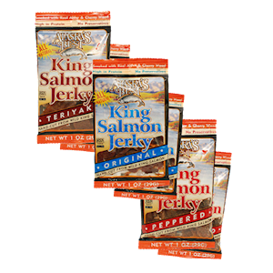 Wild Salmon Jerky 6 Pack Sampler, 1 oz. Pouches THUMBNAIL