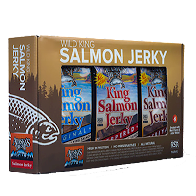 Wild Salmon Jerky Gift Pack, 12- 1 oz. Pouches LARGE