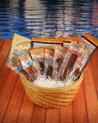 Basket of Wild Salmon Jerky Treats LARGE
