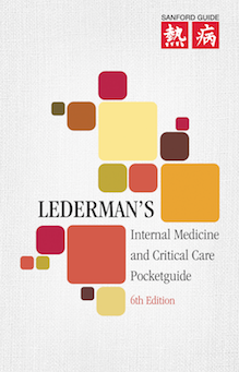 "Lederman's Internal Medicine and Critical Care Pocketguide<br>(6th Ed. 3.375"" x 5.25"") LARGE"