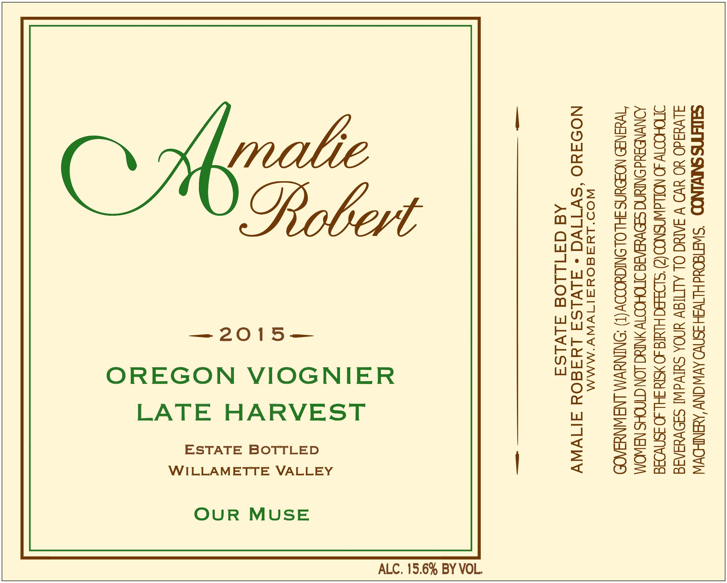 2015 Our Muse Viognier - Late Harvest (375 ml) THUMBNAIL