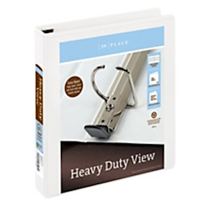 Office Depot Brand Heavy-Duty D-Ring View Binder, 1 1/2in Rings, White - 1 Each MAIN