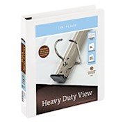 Office Depot Brand Heavy-Duty D-Ring View Binder, 1 1/2in Rings, White - 1 Each THUMBNAIL