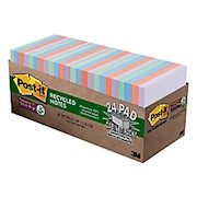 Post-it Notes Super Sticky Notes, 3in x 3in, 67% Recycled, Bali - Pack Of 24 Pads THUMBNAIL