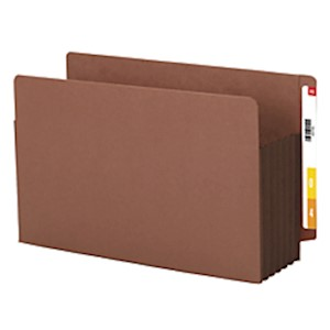 Smead Redrope Extra-Wide End-Tab File Pockets, Legal Size, 5 1/4in Expansion, 30% - Box Of 10 MAIN