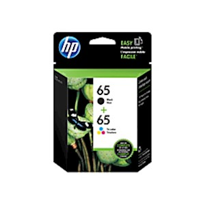 HP 65 Original Ink Cartridge, Black/Tricolor, Pack of 2 (T0A36AN) - 1 Each MAIN