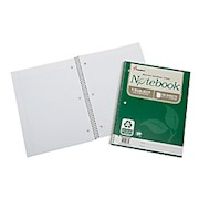 SKILCRAFT 100% Recycled Perforated Spiral Notebooks, 8 1/2in x 11in, 1 Subject, College - Pack Of 3 THUMBNAIL