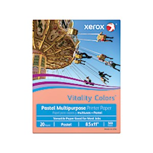 Xerox Vitality Colors Multi-Use Printer Paper, Letter Size (8 1/2in x 11in), 20 Lb MAIN