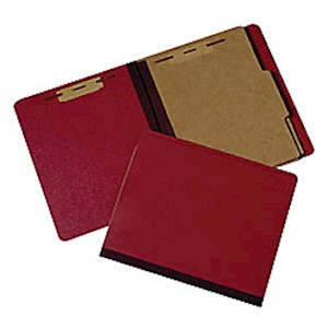 Extra Heavy-Duty Classification Folder, Letter Size, 30% Recycled, Red (AbilityOne - 1 Each MAIN