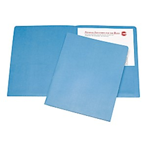 Twin Pocket Portfolios, 30% Recycled, Light Blue (AbilityOne) - Box Of 25 MAIN