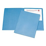 Twin Pocket Portfolios, 30% Recycled, Light Blue (AbilityOne) - Box Of 25 THUMBNAIL