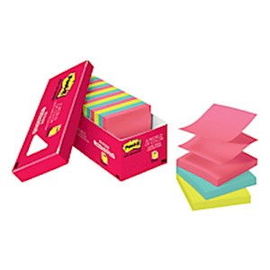 Post-it Notes Pop-up Notes, 3in x 3in, Cape Town Color Collection - Pack Of 18 Pads MAIN