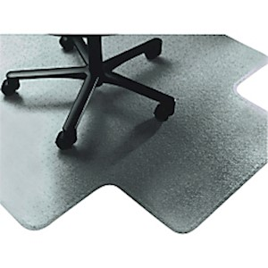 Textured Floor Mat For Carpet, For Medium-Pile Carpets, 45inW x 53inD, 20inW x 10inD - 1 Each MAIN