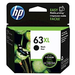 HP 63XL High Yield Original Ink Cartridge, Black (F6U64AN) - 1 Each MAIN