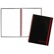 Black n Red Poly Notebook/Journal, 8 1/4in x 5 7/8in, Black/Red, 70 Pages (35 Sheets) - 1 Each THUMBNAIL