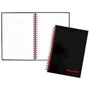 Black n Red Notebook/Journal, 8 1/4in x 5 7/8in, Black/Red, 70 Pages (L67000) - 1 Each THUMBNAIL
