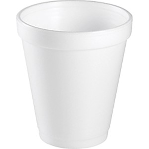 Dart Insulated Foam Drinking Cups, White, 8 Oz, Box Of 1,000 Cups - 40 / Carton MAIN