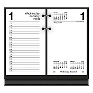 AT-A-GLANCE Daily Loose-Leaf Desk Calendar Refills, 3-1/2in x 6in, January To December - 1 Each MAIN