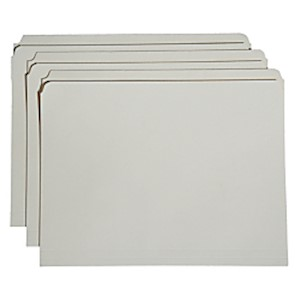 SKILCRAFT Reinforced Straight-Cut Top Tab File Folders, Letter Size, 30% Recycled - Box Of 5 MAIN