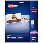 Avery Laser Microperforated Business Cards, 2in x 3 1/2in, White - Pack Of 250 THUMBNAIL