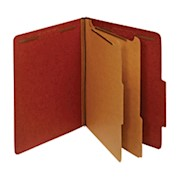 Office Depot Pressboard Classification Folders With Fasteners, 2 Dividers, Letter - Box Of 10 THUMBNAIL