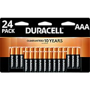 Duracell Coppertop Alkaline AAA Batteries - Pack Of 24 Batteries THUMBNAIL