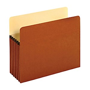 Pendaflex File Pockets, 5 1/4in Expansion, Letter Size, 30% Recycled, Brown, Box - Box Of 10 MAIN