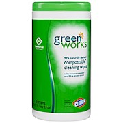Green Works Naturally Derived Compostable Cleaning Wipes, Container Of 62 - 1 Each THUMBNAIL