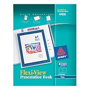 Avery Flexi-View Presentation Book, 12 Pockets, Blue - 1 Each THUMBNAIL