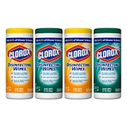 Clorox Disinfecting Wipes, Fresh/Citrus Blend Scents, 7in x 8in, 35 Wipes Per Canister - Pack Of 4 THUMBNAIL