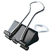 Office Depot Binder Clips, Small, 3/4in Wide, 3/8in Capacity, Black - Pack Of 36 THUMBNAIL