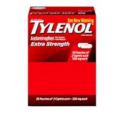 Tylenol Extra Strength Caplets, 2 Caplets Per Packet - Box Of 50 Packets THUMBNAIL