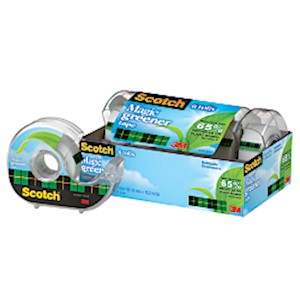 Scotch Magic 812 Greener Invisible Tape In Handheld Dispensers, 3/4in x 600in, Pack - Pack Of 6 MAIN