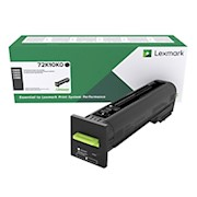Lexmark Unison Return Program Toner Cartridge, 72K10K0, Black - 1 Each THUMBNAIL