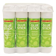 Scholastic Glue Sticks, 0.32 Oz., Clear - Pack Of 12 THUMBNAIL