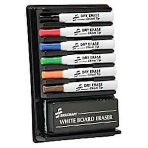 SKILCRAFT Dry-Erase Marker Kit (AbilityOne 7520-01-352-7321) - Set Of 12 MAIN