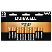 Duracell Coppertop Alkaline AAA Batteries - Pack Of 20 Batteries THUMBNAIL