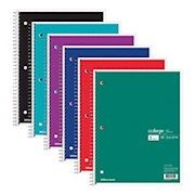 Office Depot Brand Wirebound Notebook, 3 Hole-Punched, 8 1/2in x 11in, 1 Subject - 1 Each THUMBNAIL