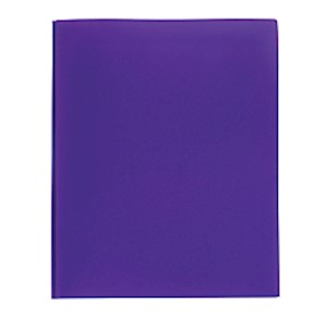 Office Depot Brand Poly 2-Pocket Portfolio With Fasteners, Purple - 1 Each MAIN