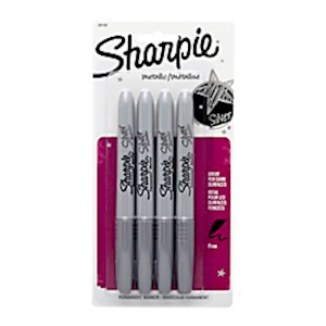 Sharpie Metallic Markers, Silver - Pack Of 4 Markers MAIN