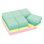 Post-it Notes, 1-1/2in x 2in, Marseille Color Collection - Pack Of 24 Pads THUMBNAIL