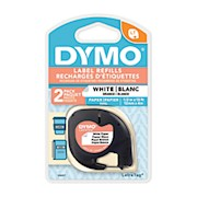 DYMO LT 10697 Black-On-White Tape, 0.5in x 13ft - Pack Of 2 THUMBNAIL