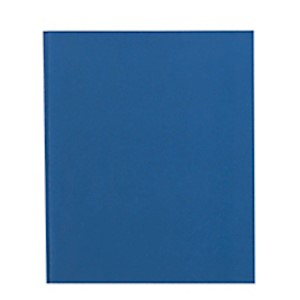 Office Depot Brand 2-Pocket Paper Folder with Prongs, Letter Size, Blue - 1 Each MAIN