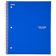 Five Star Notebook, 8 1/2in x 11in, 1 Subject, College Ruled, 100 Sheets, Assorted - 1 Each THUMBNAIL