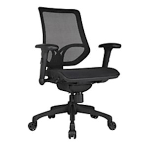 WorkPro 1000 Series Mesh Mid-Back Task Chair, Black - 1 Each MAIN