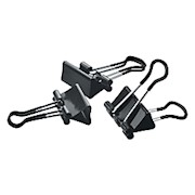 Office Depot Brand Soft-Grip Medium Binder Clips, 1 1/4in, 5/8in Capacity, Assorted - Pack Of 12 THUMBNAIL