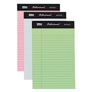 Office Depot Brand Professional Legal Pad, 5in x 8in, Assorted Colors, Narrow Ruled - Pack Of 6 THUMBNAIL