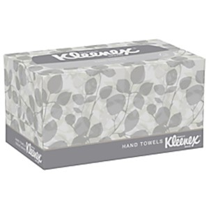 Kleenex 1-Ply Hand Towels In A Pop-Up Box, 9in x 10-1/2in - Box Of 120 Towels MAIN