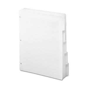 Smead 3-Ring Binder Index Dividers, 5-Tab, 11in x 8 1/2in, White, Pack Of 20 Sets - Box Of 20 MAIN