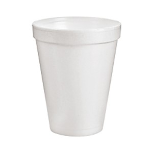 Dart Insulated Foam Drinking Cups, White, 10 Oz, Case Of 1,000 Cups - 40 / Carton MAIN